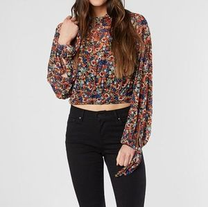 1dd21809c90 Free People Tops - Free People All Dolled Up Floral Print Mesh Top